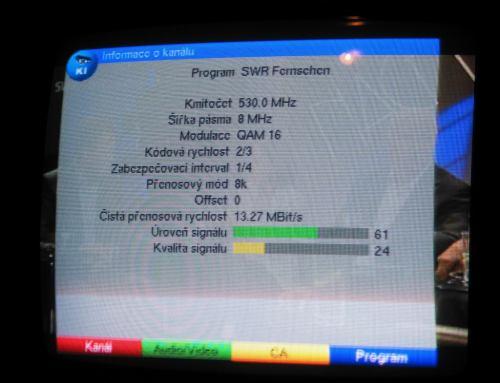 Technisat screenshot Hoher Bogen