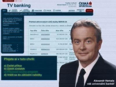 Televizní bankovnictví - ČS