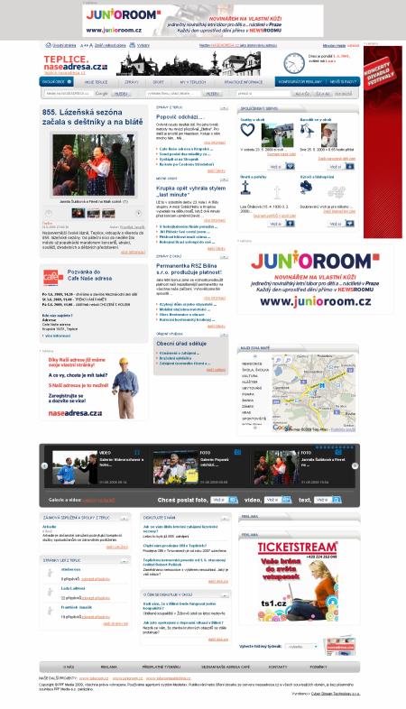 Naše adresa homepage - Teplice