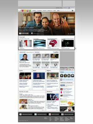 Nový web ČT - titulka 2011