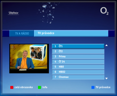 Televizní průvodce služby O2TV
