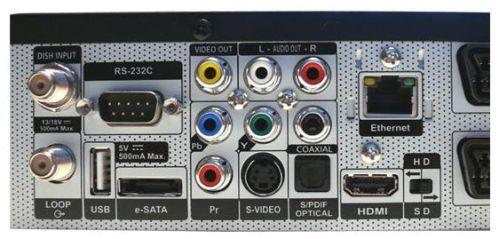 Vantage HD-7100 S zadní panel