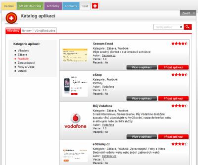Vodafone Park - aplikace