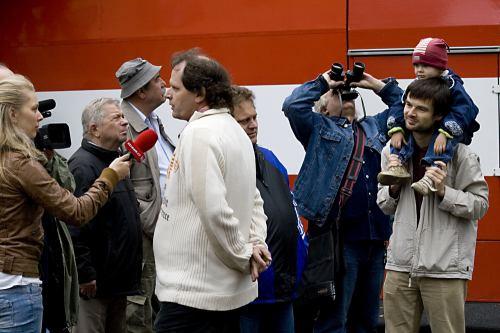 Výměna vysílací antény - Žižkov, říjen 2008
