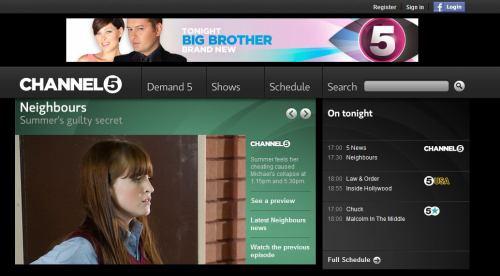 Channel 5 UK - web