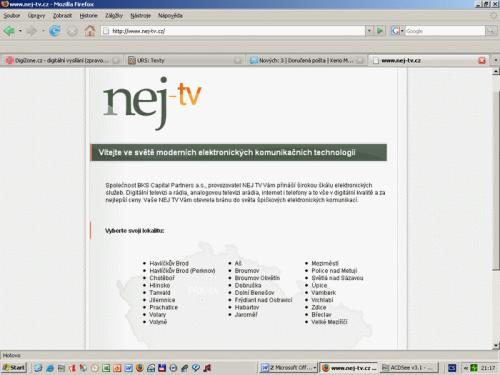 Nej televize web