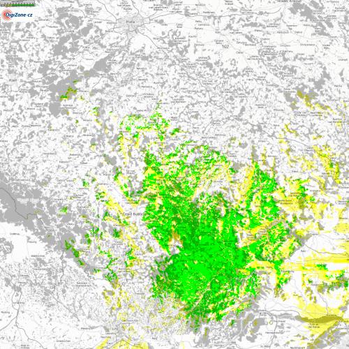 Mapa pokrytí - Weitra