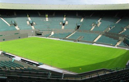 Wimbledon centrální kurt prázdný