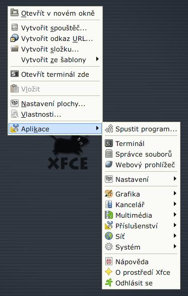 Xfce 4.6 - Menu