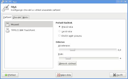 Xfce 4.6 - Myš