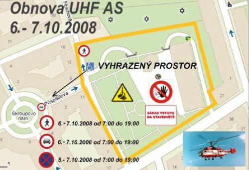 Operace Žižkov - zábory mapa