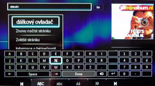 Philips 32PFL8605H zadání adresy