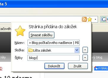 Firefox 3 - Rychlé záložky