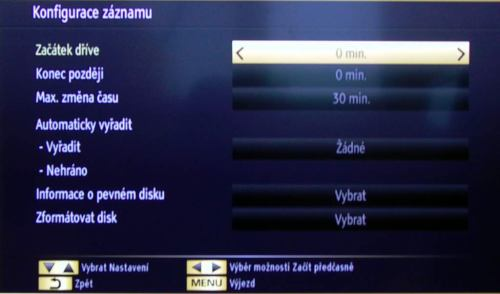 Gogen TVL 32982WEBCRR záznam nastavení