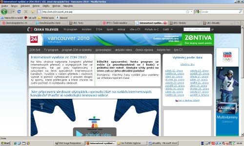 ZOH 2010 - ČT web